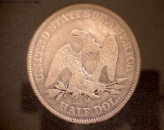 1856 Seated Liberty Back